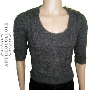 Staring at Stars Cable Knit Cropped Sweater SZ S